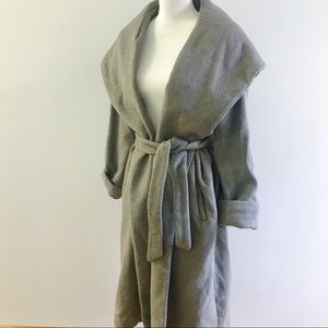 Zara Wrap Wool blend coat grey